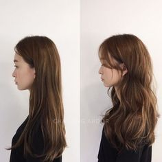 # Flower Firm ,, Natural Curling Small Flowing … - New Sites Medium Hair Cuts, Long Hair Cuts, Medium Hair Styles, Curly Hair Styles, Long Layered Hair, Korean Wavy Hair, Korean Hair Color, Long Asian Hair, Hair Korean Style