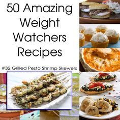 50 Amazing Weight Watchers Recipes - Grilled Pesto Shrimp Skewers