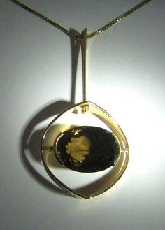 Early Vintage Gold Pendant Elis Kauppi Kupittaan Kulta Finland 60´S | eBay