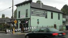 Oblique Coffee 3039 Southeast Stark St. Portland. Watch #Portlandia: Baseball Tryouts on YouTube: http://youtu.be/suvf43uj39k Click image to find location on Google Maps & details on each location from PopSurf. Website: http://obliquecoffeeroasters.com Twitter: @ObliqueCoffee http://twitter.com/ObliqueCoffee