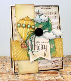 Card by Sarah Gough using Up Up & Away from Verve.  #vervestamps