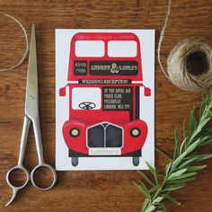 Vintage Red Bus | Top Table Design