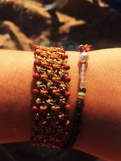 Handcrafted macrame bracelet 🌿 ig:@Macramelody