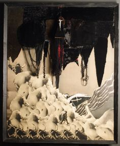 """Czarna godzina"" 1970 assamblage, 150x120 w zbiorach Muzeum Narodowego we Wrocławiu fot. Arkadiusz Podstawka Unusual Art, Literature, Culture, Design, Literatura"