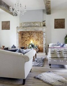 beautiful fireplace, floors, everything.