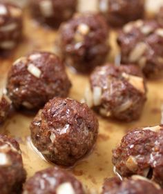 Beef liver meatballs - a great way to get some super healthy liver into your diet.   (Way better for you than any vitamin pill)