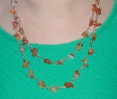 Carnelian Multistrand Necklace by ShamanCrystalWorks on Etsy