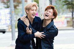 Their laughs..asjklehvxijejjs I can't Omg ♡♡♡ #Markbum #ImJaebum #MarkTuan