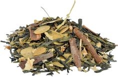 Nutty Sencha Green Tea | Flavored Tea Full bodied nutty flavours give this green tea its award winning taste. One of our favourite blends. True top quality green tea taste with a soothing and well-rounded flavour profile. Ingredients: Green tea, almonds, lime blossoms, cinnamon, natural flavours.