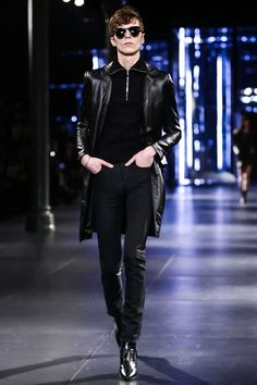 Saint Laurent Menswear Fall Winter 2015 Paris - NOWFASHION
