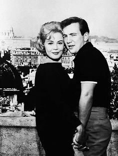 Bobby Darin and his fiance, Sandra Dee shown in Rome at Janiculum Hill. Bobby Darin died at 37 of a heart attack.
