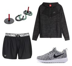 """""""Family day"""" by middletona ❤ liked on Polyvore featuring beauty, Under Armour and NIKE"""
