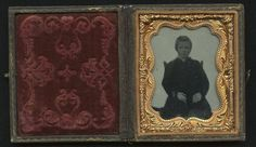 """1860 Cased """"Floating Boy"""" 9th Plate Ambrotype Image Very Early 