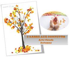 MATERNELLE-ARTS VISUELS-AUTOMNE-l'arbre confetti