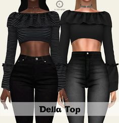 Sims 4 CC's - The Best: DELLA TOP by Lumy Sims
