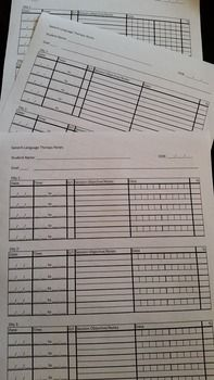 SLP Therapy Logs - editable