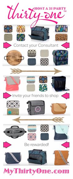 Host a Thirty-One Party & earn Hostess Rewards… discounted & free products from It's simple… Contact your Consultant, Invite Friends To Shop Be Rewarded. Plus, you will have access to these amazing Hostess Exclusives… Close To Home Roun