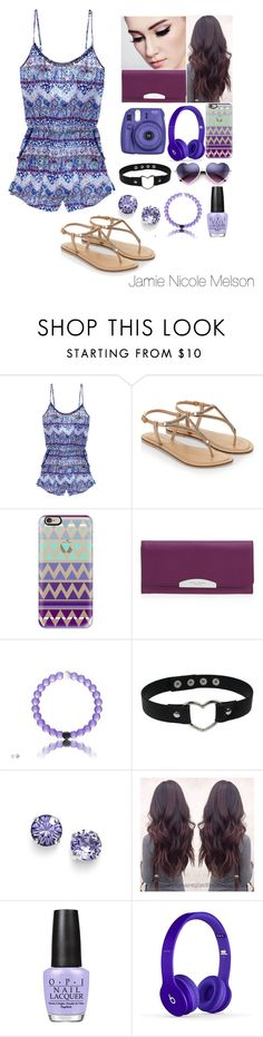 """Romper"" by jamiemelson ❤ liked on Polyvore featuring Victoria's Secret, Accessorize, Casetify, Henri Bendel, L. Erickson and OPI"
