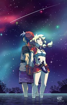 Serge and Kidd. It's been ages since I played this game. Geeky Wallpaper, Cross Wallpaper, Character Portraits, Character Art, Chrono Cross, Chrono Trigger, Cross Art, Comic Games, Beautiful Anime Girl