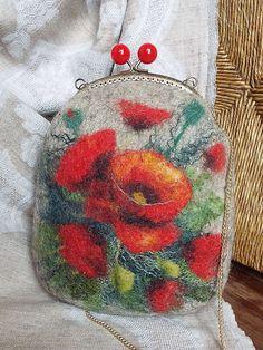 Felted wool bag-Felted wool purse-Felt bag-Felted by LarisaErmak