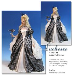 Dana of Miniature Art - 1:12 scale Art Dolls Luchesse