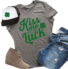 Super Soft Saint Patrick's Glitter Tees! These are our favorite soft tees! You will absolutely love them!  Dress them up or down, these tees are the perfect accent to any outfit!