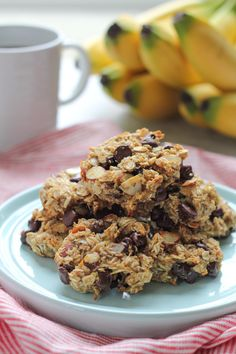 SKINNY Banana Oat Flaxseed Cookies. No butter, no eggs, no sugar but packed with nutrition and natural sweetness.