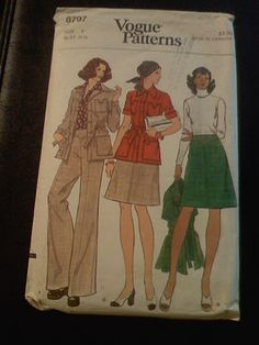 Vintage - Vogue Patterns, Size 8, Bust 31 1/2, Cut, All Pieces Included