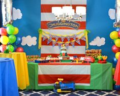 Chuggington First Birthday Party Ideas - great ideas for decor, themed food and more!