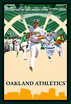 Oakland Athletics, Green And Gold, Athlete, Fan, Baseball Cards, Sports, Movie Posters, Hs Sports, Film Poster