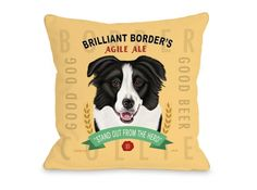 """Brilliant Border"" 18"" x 18"" Pillow 