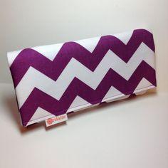 """Purple chevron wallet. """"World's Greatest Wallet.""""  Card wallets for women. on Etsy, $38.00"""