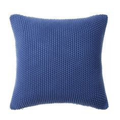 A great addition to decorating, the Santona cotton knitted cushion will fit perfectly with any new season look. This heavy quality, textural cushion is surprisingly light as it is made with wonderfully soft cotton. Knitted Cushions, Blue Cushions, Home Republic, Contemporary Style, Faux Fur, Velvet, Throw Pillows, Bedroom Inspo, Living Room