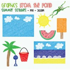 Summer Scribbles - FREE Thank You 1000 Graphics