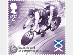 Design by Howard Brown – Stamps for Glasgow Commonwealth Games 2014