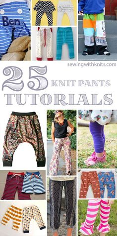 Knit Pants Tutorials and Patterns || Sewing with knits