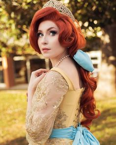 Some days are sadder than others... we live in a sad world right now. My duty is both to speak about it and to keep bringing you a moment… Anastasia Cosplay, Disney Halloween, Brighten Your Day, Bring It On, In This Moment, Costumes, Disney Princess, Model, Photography