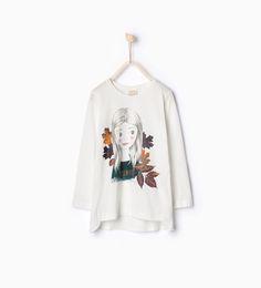 ZARA - CRIANÇAS - T-shirt algodão orgânico estampado