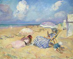 Henri Lebasque (French artist, 1865-1937) On the Beach