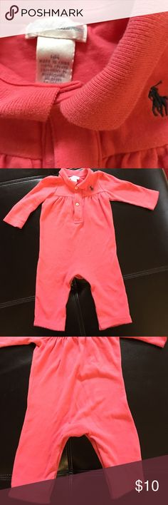 Polo one piece outfit 6m Pink one piece polo outfit 6m Polo by Ralph Lauren One Pieces