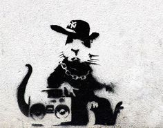 Rat with a Boombox, Banksy Canvas Art Boombox Rat Custom Canvas Prints Gallery Wrapped Canvas, banksy canvas prints, Canvas Art Print