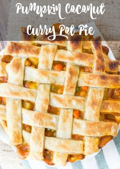 Pumpkin Coconut Curry Pot Pie Made 11/1/14. Loved this but very labor intensive with homemade pie crust.