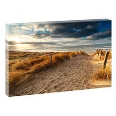 Weg zum Strand Bild Strand Meer Wandbild Leinwand  Poster XXL 80 cm*40 cm 544