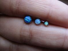 Tragus Earring Jewelry Piercing Ring Stud Opal by Azeetadesigns