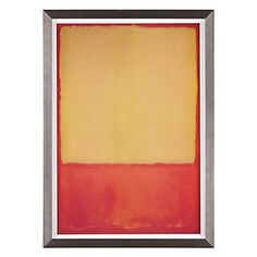 """I'm not an abstractionist. I'm not interested in the relationship of color or form or anything else. I'm interested only in expressing basic human emotions: tragedy, ecstasy, doom, and so on."" - Mark Rothko. The Ochre, $199.95"