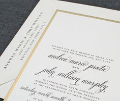 What elegance!  NEW Andrea Script Metallic Gold Layered Wedding by CricketPrinting, $5.00