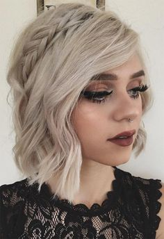 Braids for Short Hair: Short Braided Hairstyles for Women frisuren frauen frisuren männer hair hair styles hair women Braided Crown Hairstyles, Prom Hairstyles For Short Hair, Short Hair Updo, Box Braids Hairstyles, Girl Short Hair, Short Hair Cuts, Girl Hairstyles, Curly Hair Styles, Updo Hairstyle