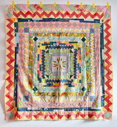 Medallion quilt in progress by carriestrine on flickr
