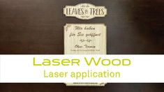 Learn how to create a wooden signage plate with laser! Laser Wood : new signage opportunities Only birch Laser Wood is PEFC certified. Laser Laser, Wooden Signage, Types Of Wood, Laser Engraving, Plate, Watch, Learning, Youtube, Wood Types