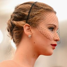 This could be your New Years Party look - the Voilette by Jennifer Behr on Jennifer Lawrence at the Met Gala.